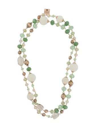 Edward Achour Paris Layered Beaded Chain Necklace Ss20   Farfetch.com