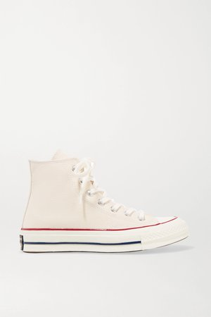 Ecru Chuck Taylor All Star 70 canvas high-top sneakers   Converse   NET-A-PORTER