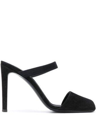 Black Giuseppe Zanotti square toe mules- Farfetch