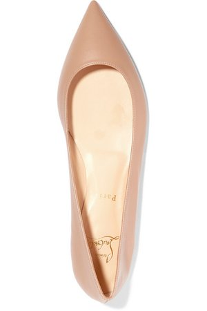 Christian Louboutin | Ballalla leather point-toe flats | NET-A-PORTER.COM