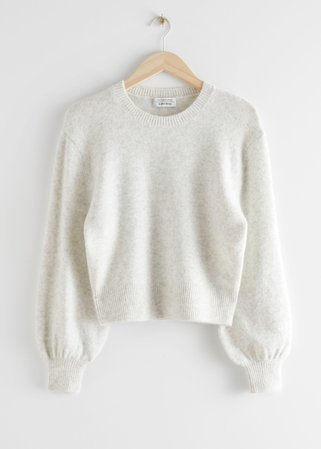 Cropped Sweater - Light Grey - Sweaters - & Other Stories