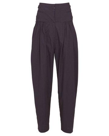 Isabel Marant Étoile Oudaen Pleated Cotton Trousers   INTERMIX®