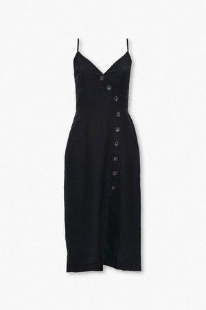 Linen-Blend Surplice Cami Dress | Forever 21