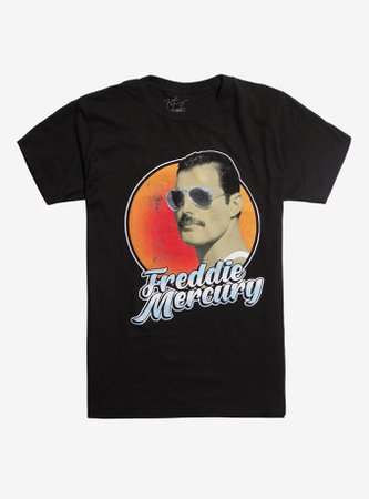 *clipped by @luci-her* Queen Freddie Mercury Aviator Sunglasses T-Shirt