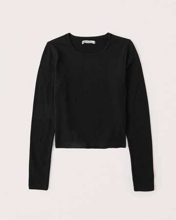 Women's Long-Sleeve Seamless Ribbed Crew Top | Women's New Arrivals | Abercrombie.com