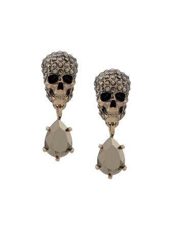 Alexander McQueen Skull Crystal Earrings - Farfetch