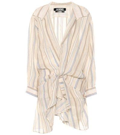 La Robe Alassio striped minidress
