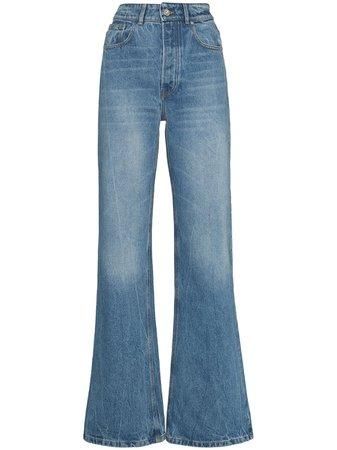 Paco Rabanne high-rise wide-leg jeans - FARFETCH