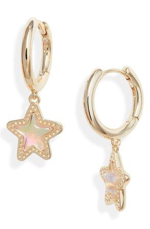 Kendra Scott Jae Star Huggie Hoop Earrings | Nordstrom