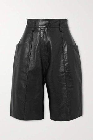Hugo Leather Shorts - Black