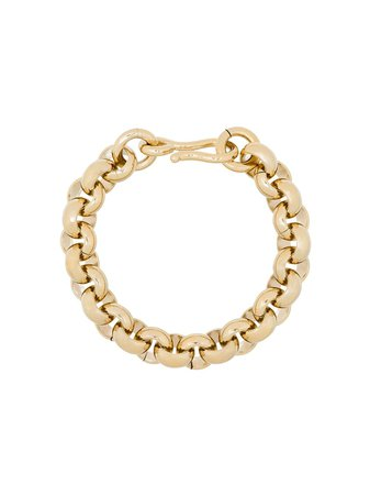 Shop gold Laura Lombardi 14kt gold-plated Piera chain bracelet with Express Delivery - Farfetch