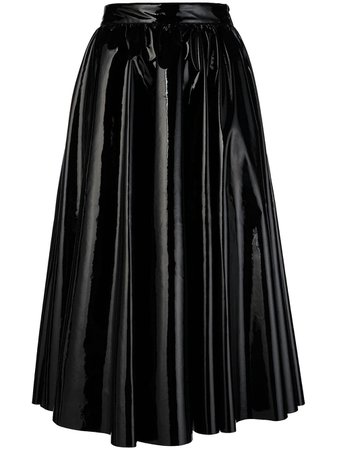 Black Msgm Full Flared Skirt | Farfetch.com