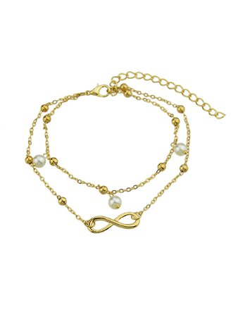 Gold 1 Pc Boho Chic Anklets Bead Charm Multi Layer Chain Anklets