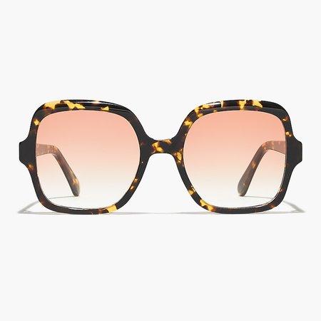J.Crew: Oversize Retro Square Sunglasses For Women brown