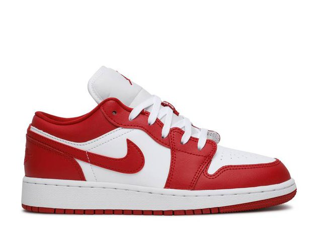 Air Jordan 1 Low GS - Air Jordan - 553560 611 - gym red/gym red/white | Flight Club