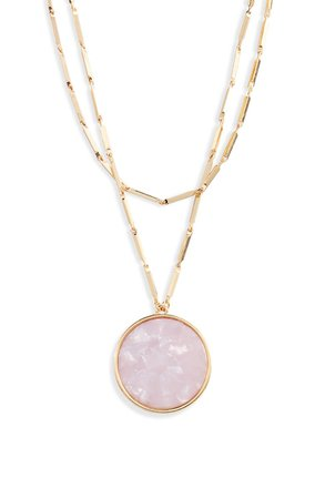 Ettika Multistrand Disc Pendant Necklace | Nordstrom