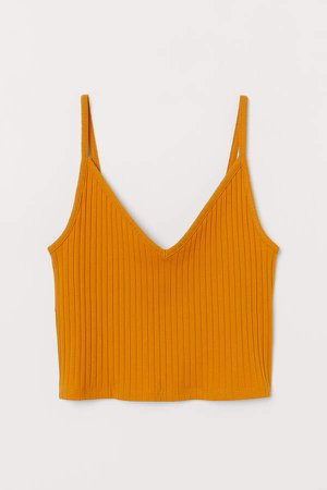 Short Jersey Camisole Top - Yellow