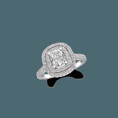 Graff Twin Constellation CUSHION CUT DIAMOND ENGAGEMENT RING