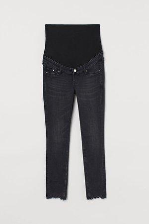 MAMA Skinny Ankle Jeans - Black