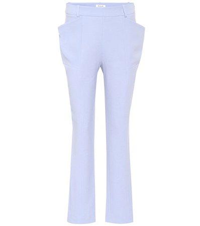 Cady crêpe trousers