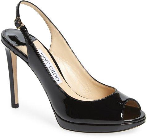 Nova Patent Slingback Sandal