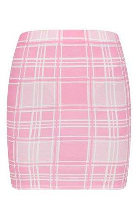 Pink Check Print Mini Skirt | Skirts | PrettyLittleThing