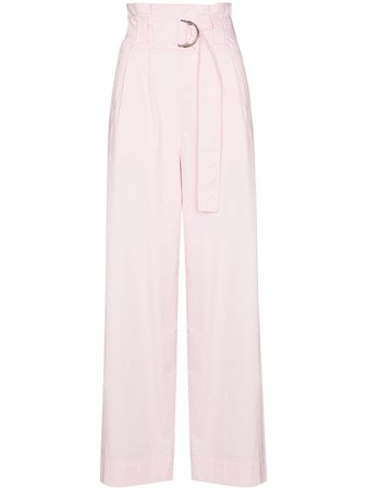 GANNI Paperbag Waist Trousers - Farfetch