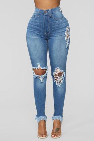 Ankle Jeans - Medium Blue Wash