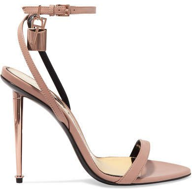 Padlock Leather Sandals - Neutral