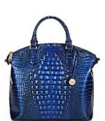 BRAHMIN Melbourne Collection Katie Leather Crocodile-Embossed Crossbody Bag | Dillard's