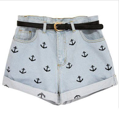 Anker shorts with belt