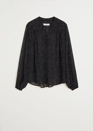 Flowy printed blouse - Women   Mango USA