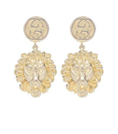 Lion clip-on earrings