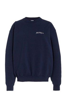 Rizzoli Printed Cotton Sweatshirt By Sporty & Rich | Moda Operandi