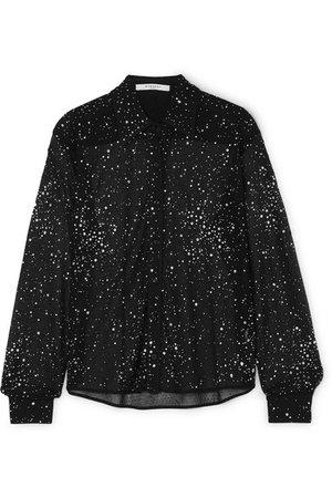 Givenchy   Crystal-embellished lace shirt   NET-A-PORTER.COM