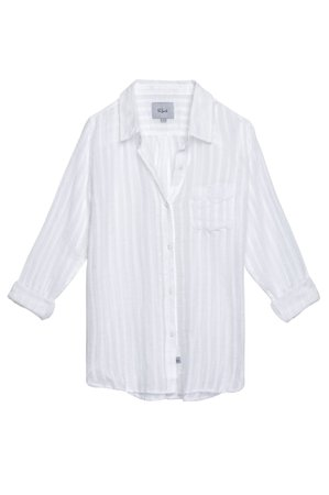 Rails Charli Button Down (White Shadow Stripe)