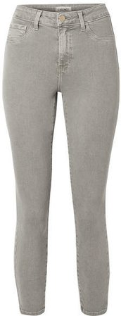 Margot Cropped High-rise Skinny Jeans - Gray