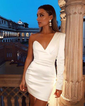sexy white dress chloe bleinc - Google Search