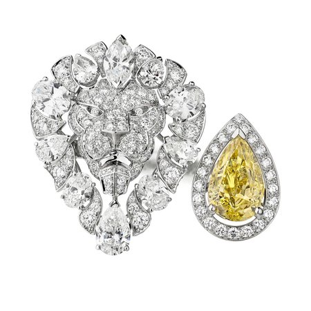 Chanel, L'Esprit du Lion Legendary ring with yellow and whites diamonds
