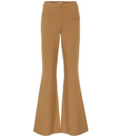 Ashley flared wool-blend pants