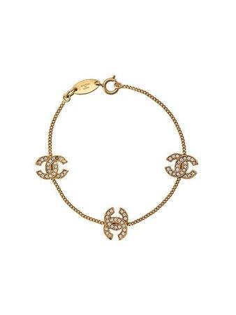 Chanel Vintage Bracelet à Breloques Logo - Farfetch