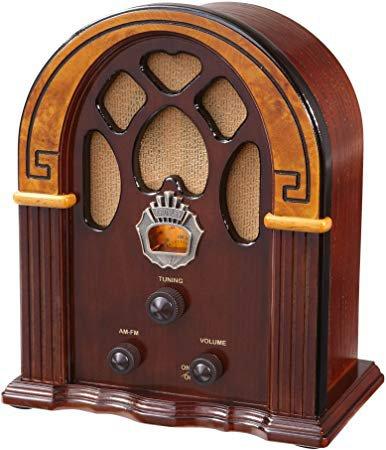 Crosley CR31-WA Companion Retro AM/FM Radio with 1 Full-Range Speaker (Walnut & Burl): Amazon.ca: Electronics