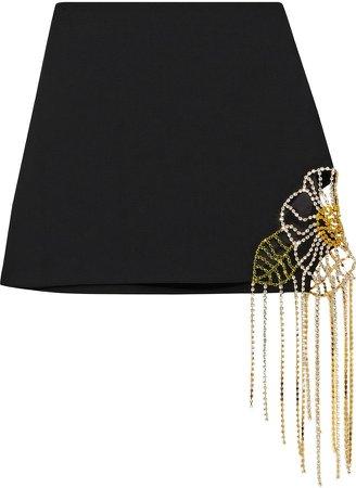 Crystal-embellished Cady Mini Skirt