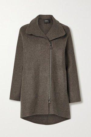 Melange Cashmere Coat - Anthracite