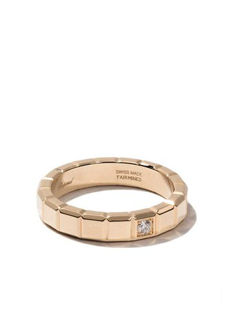 CHOPARD 18KT YELLOW GOLD ICE CUBE DIAMOND RING | ModeSens