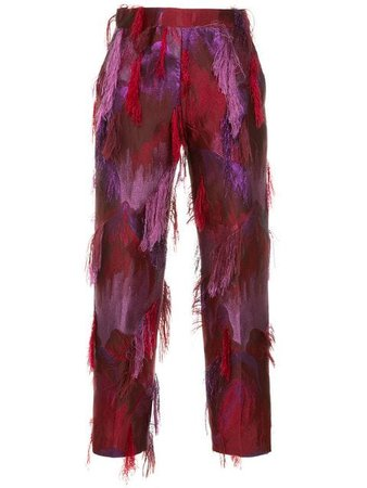 Taller Marmo fringed jacquard trousers $766 - Buy AW18 Online - Fast Global Delivery, Price