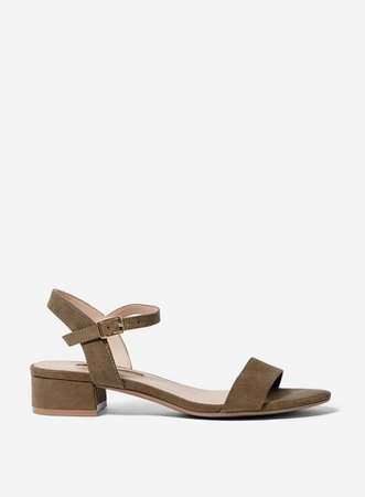 Khaki 'Sprightly' Sandals | Dorothy Perkins