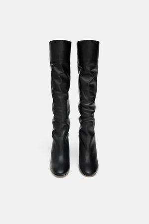 HIGH - HEEL LEATHER BOOTS-View all-WOMAN-SHOES | ZARA United Kingdom