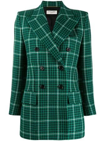 Saint Laurent Prince Of Wales check-pattern Blazer - Farfetch
