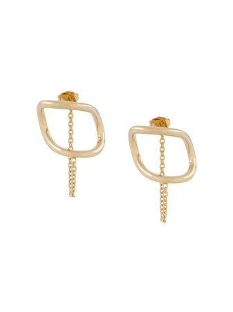 Maison Margiela Half-Circle Chain Earrings S51VG0066S12672 Gold | Farfetch